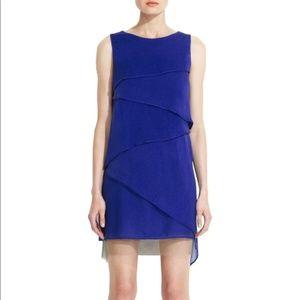 BCBG Maxazria Runway Celine Cascading Silk Dress